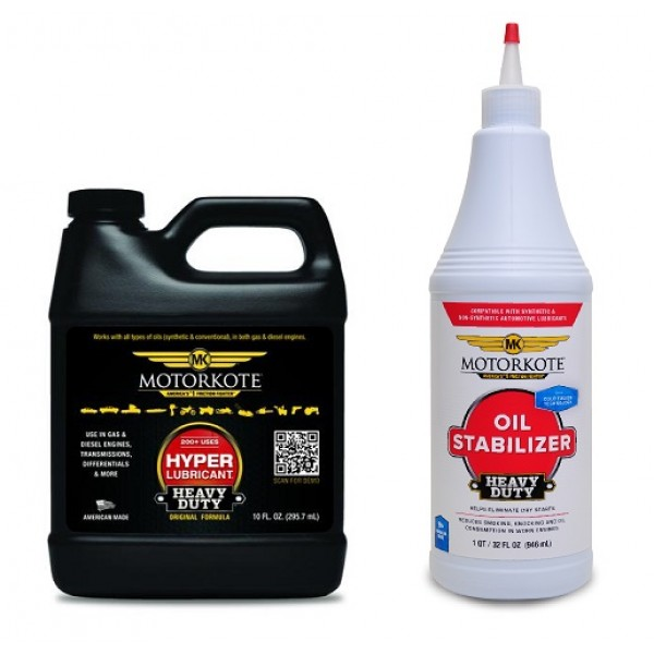 MOTORKOTE 295 ml + MOTORKOTE HEAVY DUTY OIL STABILIZER 946 ml